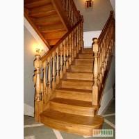 Комплектующие для деревянных лестниц: перила, балясины, ступени