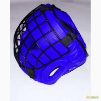 Шлем для единоборств, маска сталь. Натуральная кожа.