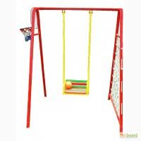 Качели садовые детские 4 в 1 (баскетбольное кольцо+ гладиаторская сетка+дартс)