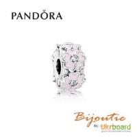 Оригинал PANDORA шарм-клипса розовые примулы 791823EN68
