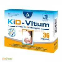 Кід-вітум, вітамін к і d для дітей від 8 дня народження, 36 капсул