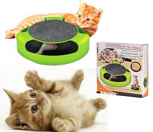 Фото 1/3. Интерактивная игрушка для кошек ПОЙМАЙ МЫШКУ CATCH THE MOUSE