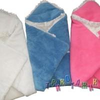 Тёплый конверт-одеяло для новорожденного. Травка