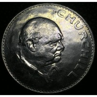 Англия 1 крона 1965 год Уинстон Черчилль!!! СОХРАН