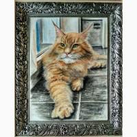 Продам авторскую картину Каспер-пастель, 36х27