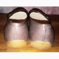Кожаные туфли-мокасины Clarks, 37р