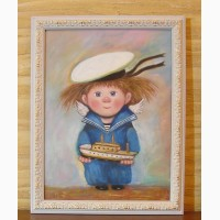 Картина МАСЛОМ в детскую комнату -Морячок