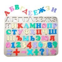 Деревянный алфавит, Азбука деревянная цветная, Сортер-алфавит