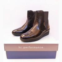 255 мм ботинки женские IMAC YQ53 демисезонные черные лаковая кожа размер 39