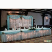 Свадебный фон, задник за молодыми, аренда ширмы, оформление тканя