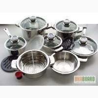 Набор посуды Bachmayer SOLINGEN из 16 предметов с пароваркой + набор ножей