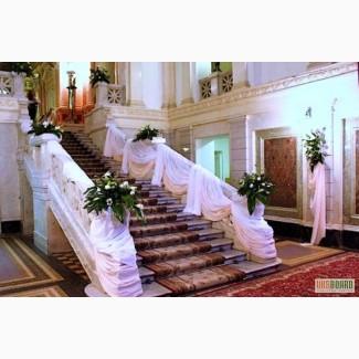 Декор залов, оформление помещений, прокат текстиля, аренда мебели, флористика киев