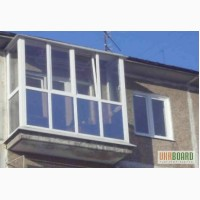 Балконы металлопластиковые французского вида
