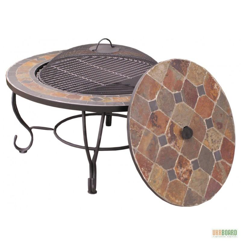 Столы в барбекю портал для подвески электрокамина