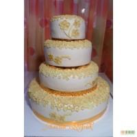 Свадебный торт Золотистый