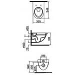 Унитаз подвесной Vitra (Турция) Form 500 с крышкой SoftClose дюропласт