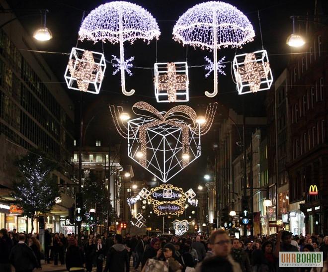 Новогодние led гирлянды светодиодные светящиеся световые купить оптом
