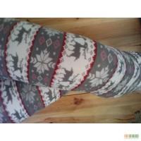Леггинсы со снежинками и оленями серые Тренд осень-зима 2018