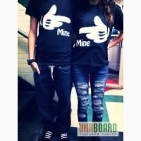 Парные футболки для влюбленных, самые яркие тематические футболки для двоих.