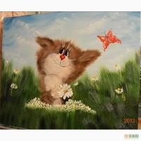 Картина маслом Веселий котик 50х60