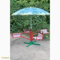 Карусели детские с зонтом, 4-местные