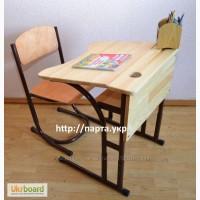 Новая парта и стульчик регулируемые. На весь период обучения