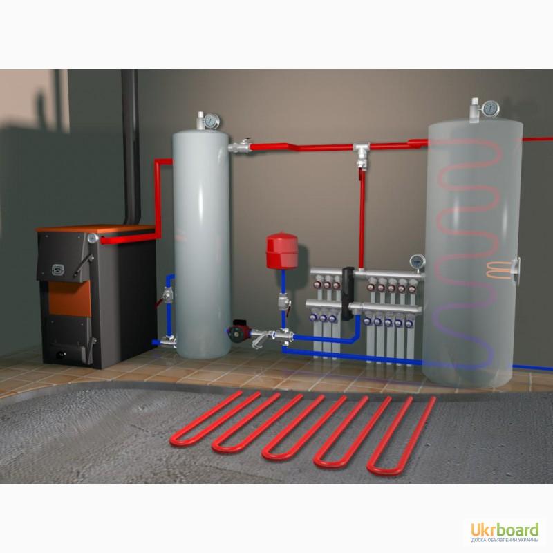 Монтаж отопления в частном доме схема