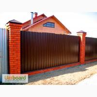 Забор ограждение из профлиста Боярка