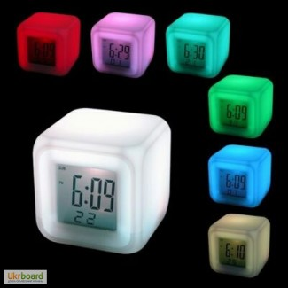 Настольные часы с подсветкой LED Color, часы Хамелеон