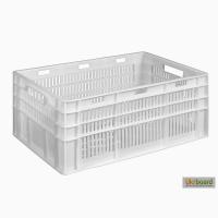 Пищевой пластиковый ящик 600х400х260