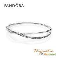 Pandora браслет Сплетение 590533CZ (жесткий - бангл)