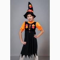 Детские карнавальные костюмы Ведьмочка, возраст 4-7 лет
