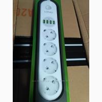 Cетевой удлинитель Ldnio 4 USB 4 розетки 2 м