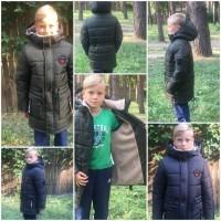Зимние теплые удлиненные куртки для мальчиков 7-12 лет, цвета разные S9921