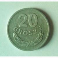 Монета. Польша 20 грош, 1967