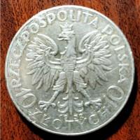 Монета. Страна - Польша 10 злотых 1932