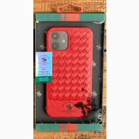 Кожаный чехол-накладка для iPhone Santa Barbara Polo red Club Knight iPhone 12 / 12 Pro