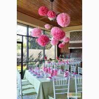 Оформление праздника бумажными цветами,шарами