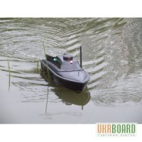Радиоуправляемый кораблик для прикормки с эхолотом JABO-2B для профессиональной рыбалки