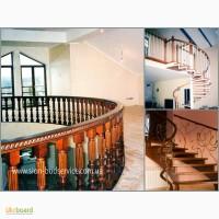Криволинейно изогнутые поручни, радиусные ограждения, опорные столбы для лестниц