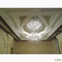Потолочное зеркальное панно в ромбах, зеркальная плитка на потолок