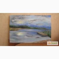 Продам картину-пейзаж, нарисована масляными красками, размер 60 40 см