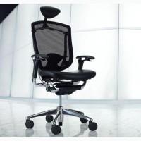 Эргономичные кресла OKAMURA CONTESSA Япония спинка/сетка, сидение/кожа, подголовник/кожа