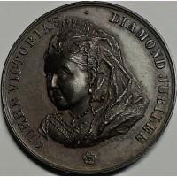Англия медаль 1897 год ОТЛИЧНАЯ!!!!! РЕДКАЯ
