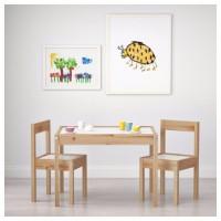 АКЦИЯ!!! Детский стол и 2 стула из белой сосны (новые) IKEA Latta