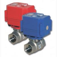 Кран шаровой с электроприводом АС110-220В 1/2 (нержавеющий кран)