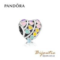 PANDORA шарм радуга сердец ― 797019ENMX