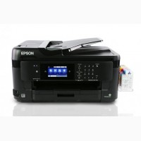 Продам МФУ Epson WorkForce WF-7710DWF с СНПЧ и чернилами