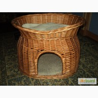 Б/у Плетеный домик-лежак для кошек Trixie Wicker Cave with Bed on Top