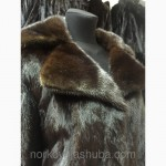 Норковая шуба с поясом классика норка махаон